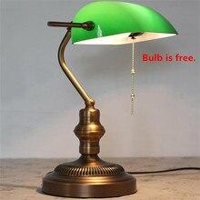 LED Desk Lamp E27 Powerbank Table Light Office Lamparas Escritorio Reading Lamps Emerald Green Glass Bureau