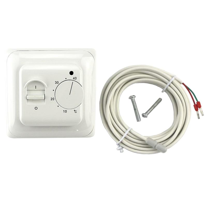 Nuevo mecánico Universal de suelo radiante termostato AC 230 V Dual electrónico habitación caliente controlador de temperatura ignífugo PC