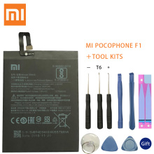Original Replacement Battery BM4E For Xiaomi MI Pocophone F1 battery Authentic Phone 4000mAh +Tool Kits