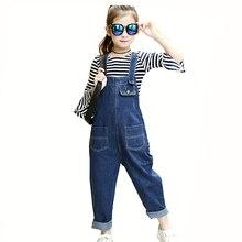 650f89d1a Primavera y otoño niña niños Denim Jeans moda Mono para chicas adolescentes  ropa niños Pantalones cortos