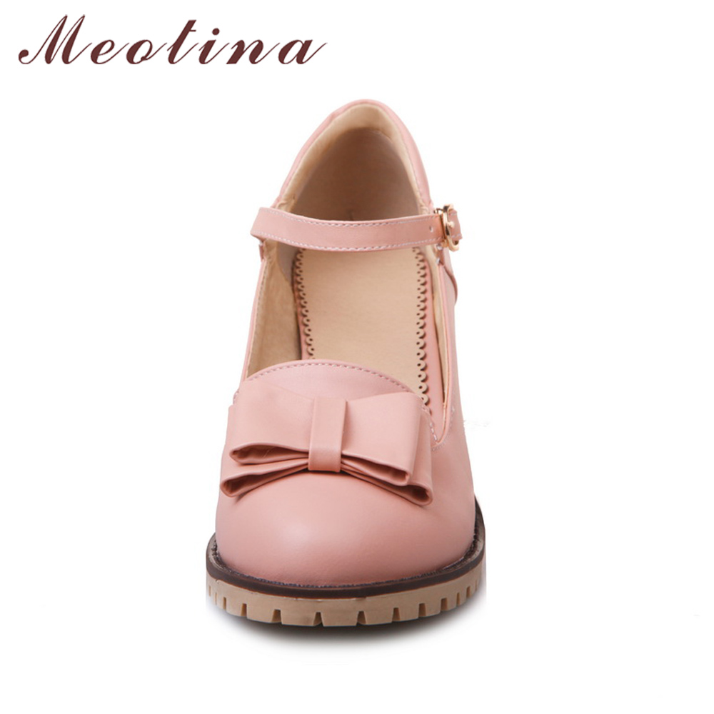 Meotina Damen Pumps Lolita Schuhe Plattform High Heels Rosa Mary Jane - Damenschuhe - Foto 2