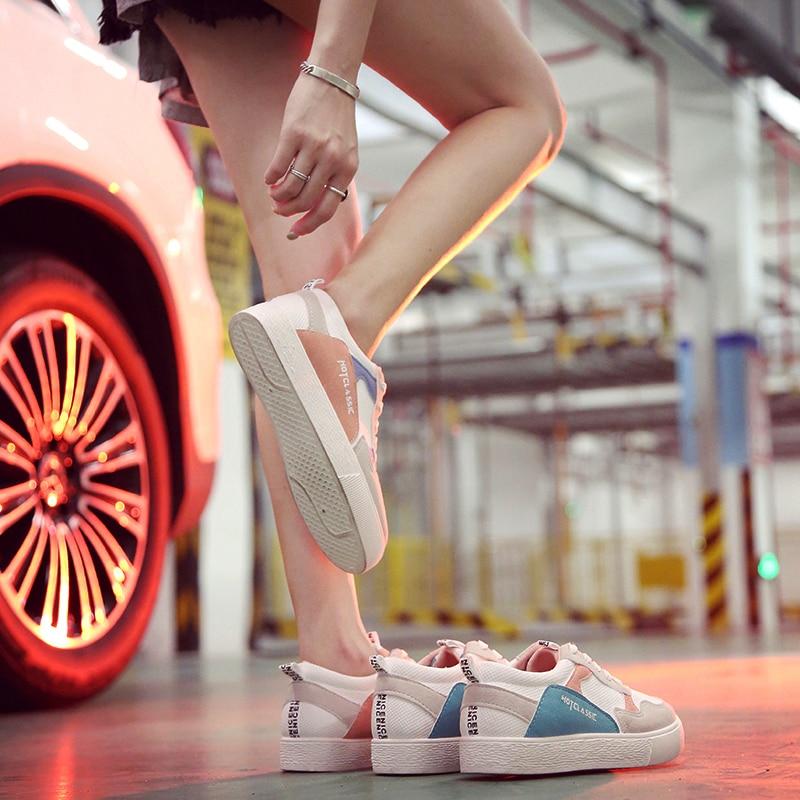 Filles Sport Femmes Respirant Plates Version New Casual 2018 Tendance Confortable Blue Pour pink Hot Étudiant Chaussures Sycatree Coréenne xoerWCBd