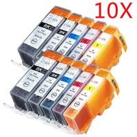 10 New PGI 225 CLI 226 Ink Black Color Set Compatible For Canon Pixma MG5120 MG5220