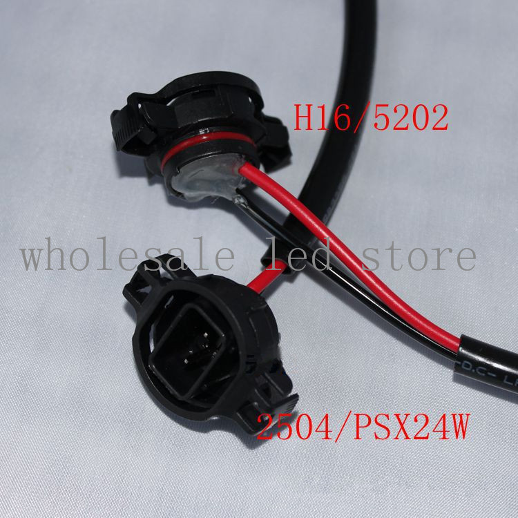 Adaptador de soporte de lámpara LED antiniebla para coche, 5 unidades por lote, enchufe H16 5202, PSX24W/2504/P19W, Envío Gratis