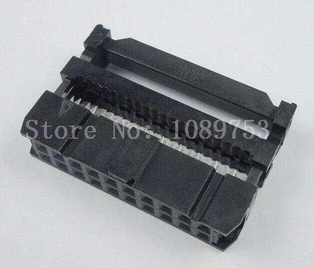 100pc FC-20P 2x10 2x10P 20P 20pin pitch 2.54mm IDC Cable Plug Connector connector hr25 9tp 20p 72