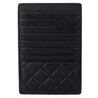 100% Soft Sheepskin Premium Genuine Leather Card Holder 2019 New Arrivals Large Capacity Unisex Credit Card Case Men and Women