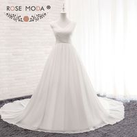 Rose Moda Voan Thai Sản Wedding Dress V Neck Summer Wedding Dresses cho Nơi Đến 2018