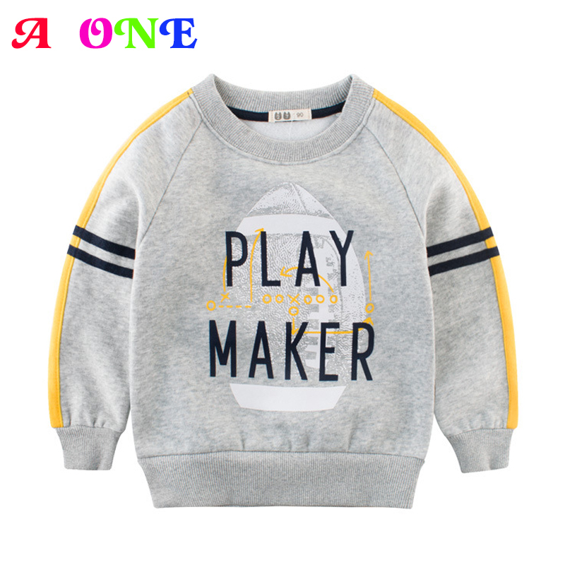 Autumn Spring velvet striped soccer letter print baby boys sweat shirt tee kids tshirt children fashion tops boys sweatshirt