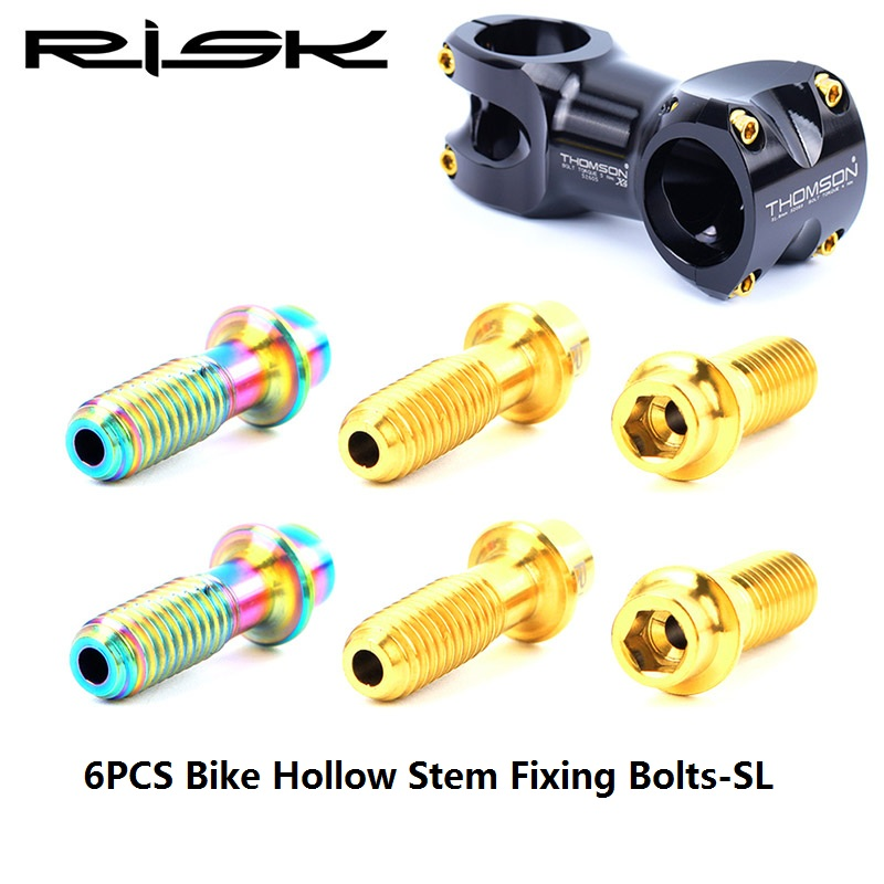 M5x19mm Bicycle Screw Stem Bolt With Spacer Titanium Steering Handlebar Parts