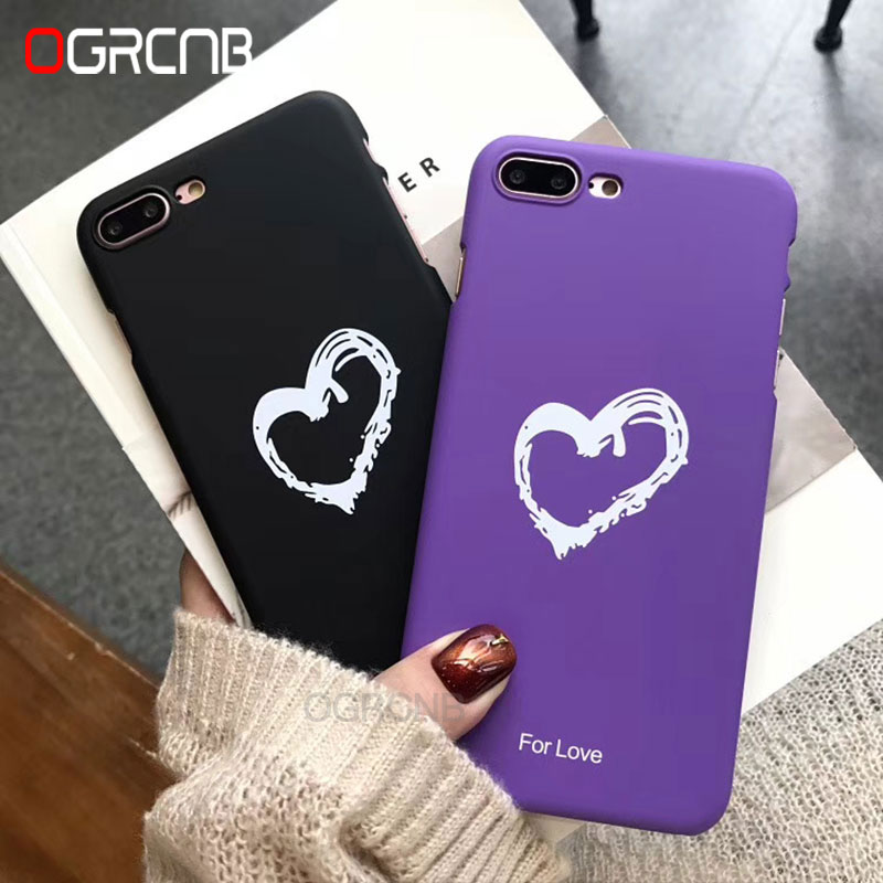 Galleria fotografica Luxury Lovely Heart PC Phone Case For Iphone 6 6s 7 8 X Hard Protection Case For iphone 8 Plus 6 6s 7 Plus 6 Ultra Thin Shell