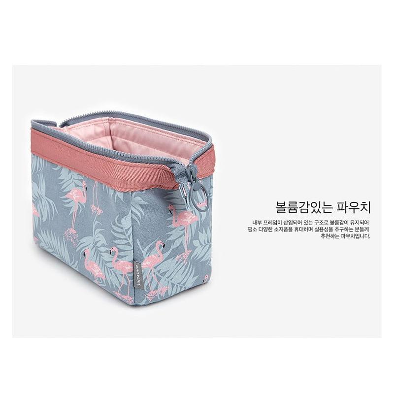 new fashion cosmetic bag Women waterproof Flamingo makeup bags travel organizer Toiletry Kits Portable makeup bags Beautician 2