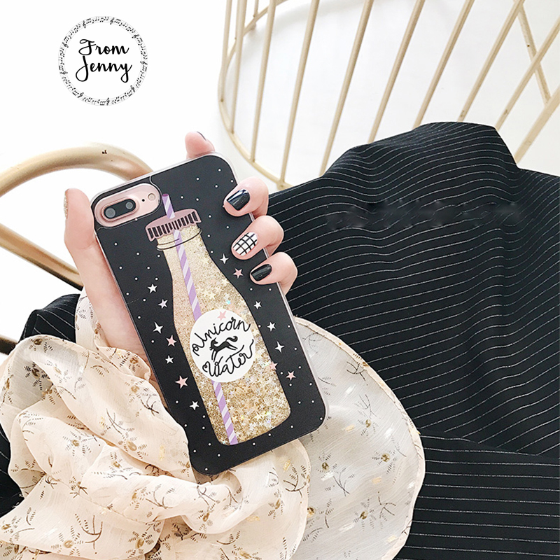 [From Jenny] Hot Beer Liquid Quicksand Transparent Case for Apple iPhone6s 6 7 7plus 6s+ 6splus Capas Covers