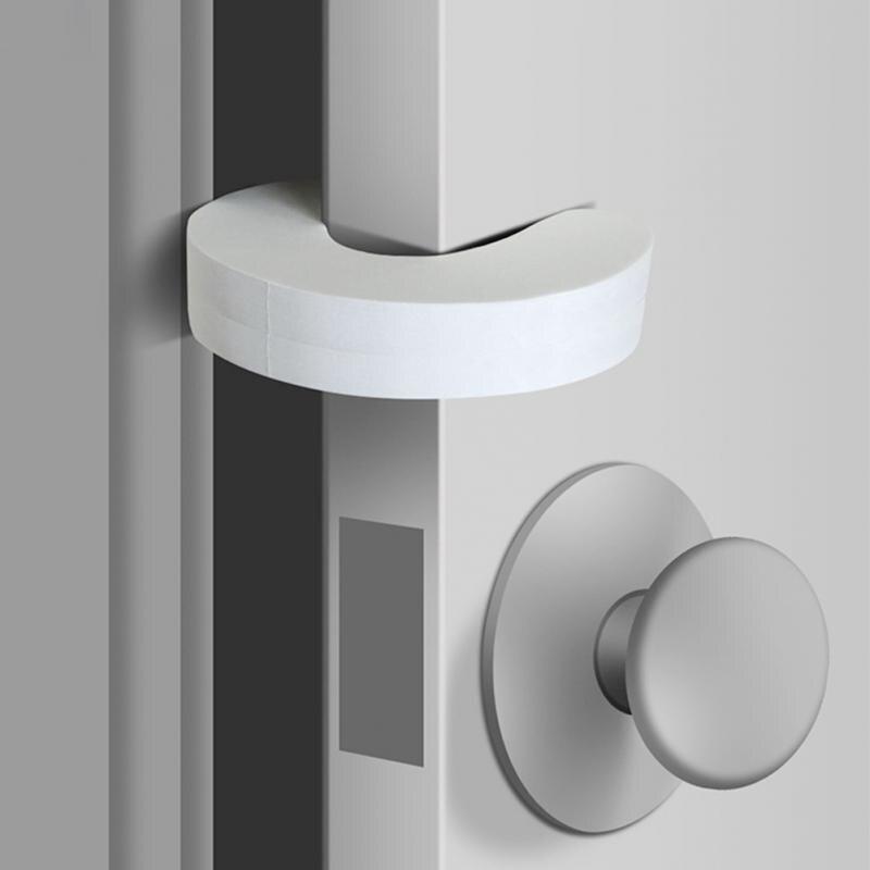 6PCS Baby Safety Locks Children Protection EVA C Shape Security Cabinet Locks Kids Finger Safe Door Stopper Foam Doorstop