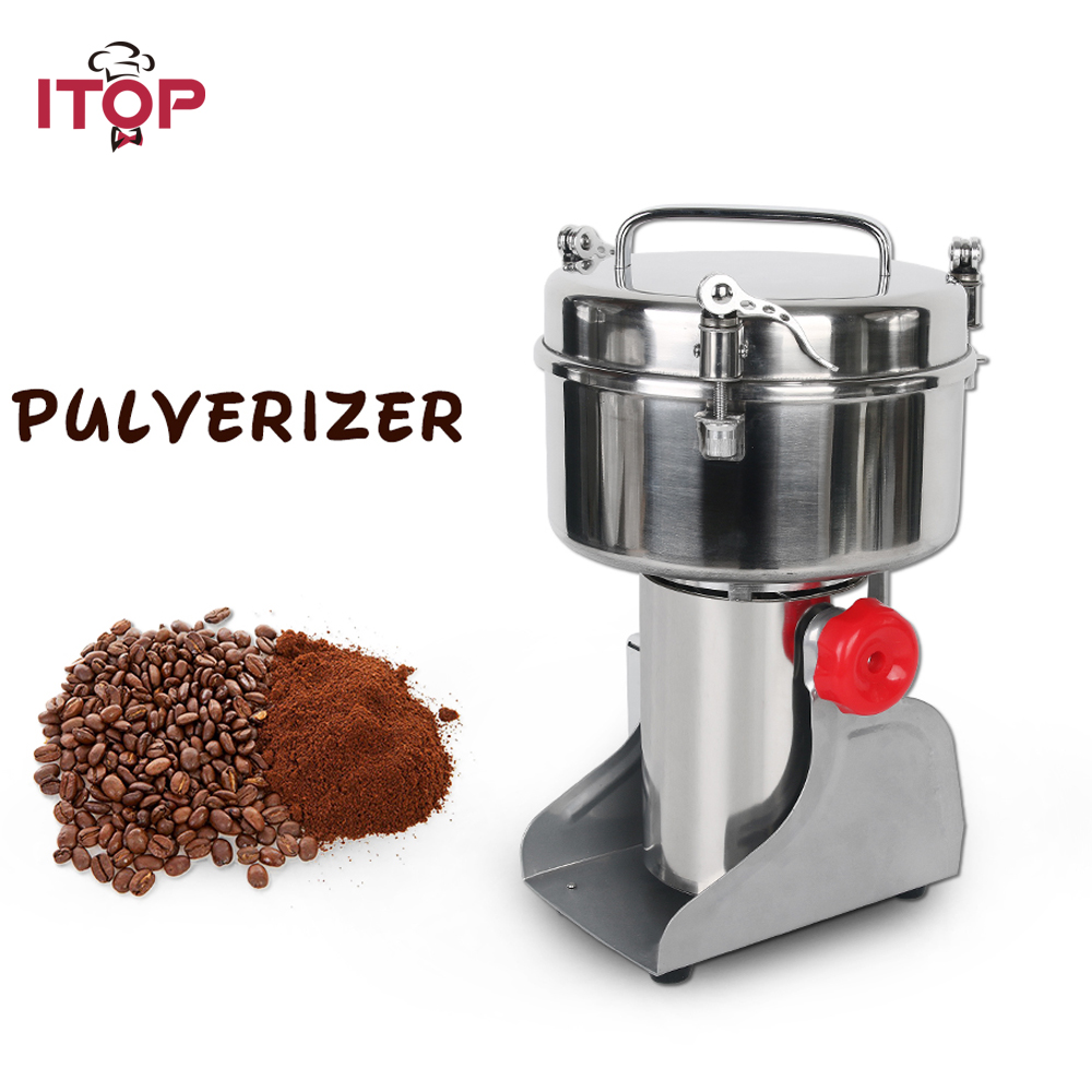 ITOP Swing Type 750g Pulverizer Machine 2500W Automatic Mill Herb Grinder Electric Grain Grinder Food Processors 110V 220V