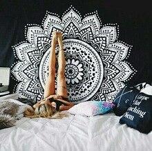 Nuevo estampado de tapiz de loto mándala Bohemia, tapiz colgante de pared para decoración de pared, tapiz Hippie, estera de playa, estera de Yoga