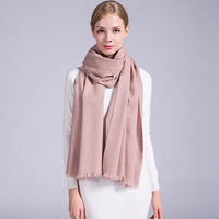 Modo Brand Solid Color Warm 100 Cashmere Scarf Luxury 200x70cm Rectangle Soft Scarf For Women In
