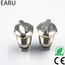 19 Mm 22 Mm 2 3 Posisi Push Button Switch DPDT Pemilih Tombol Rotary Switch Tahan Air Stainless Steel Cahaya Redup saklar Daya(China)