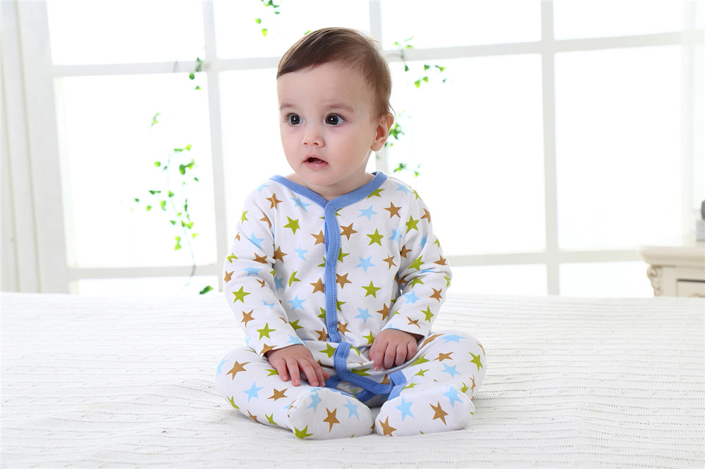 Baby romper Girl Boy Long Sleeve 100% Cotton Newborn Baby Clothes Baby Girl Boy Spring Autumn Clothing 0-12 M Baby Jumpsuits