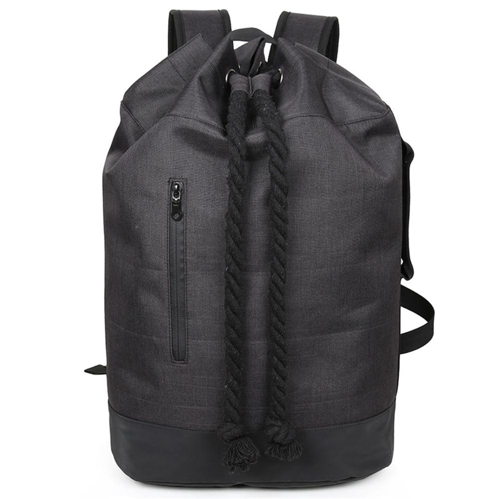 Shoulder Bucket Drum Backpack Men's Large Capacity Luggage Outdoor Travel Mountaineering Basketball Student Bag