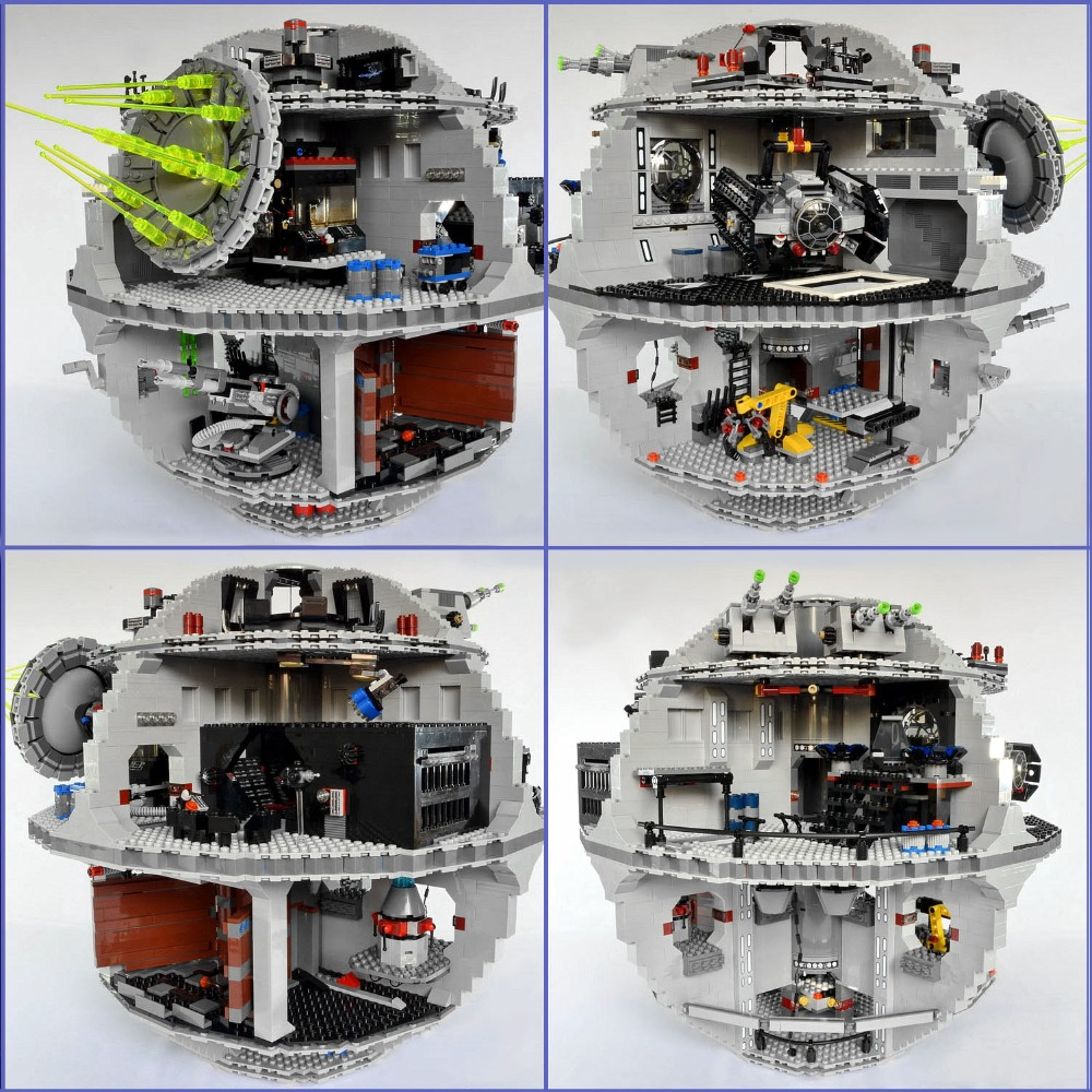 New Lepin 05063 Wars on Star The UCS Death Stars Building Block Bricks Toys Kits Compatible with LegoINGlys 75159