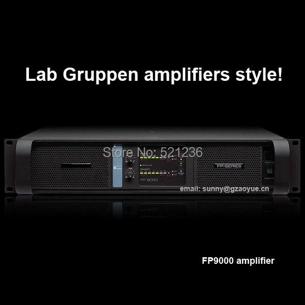 Lab gruppen FP9000 audio amplifier with blue board power amplifier 1000 watt power amplifier lab gruppen fp10000q for outdoor activities dj equipment public address power amplifier