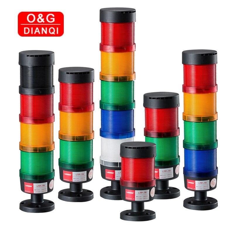 Stack Lamp Industrial Emergency Light Stack Light LED Warning Light Machine Tower Light Industrial Flash Light