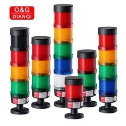 Torre de luz industrial 12 v 24 v 110 v 220 v 380 v luz de advertência do diodo emissor de luz da pilha da luz de emergência industrial da pilha da lâmpada da pilha