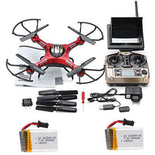 Free Shipping! JJRC H8D Real-time FPV RC Quadcopter Drone W/HD Camera + 2 extra Battery