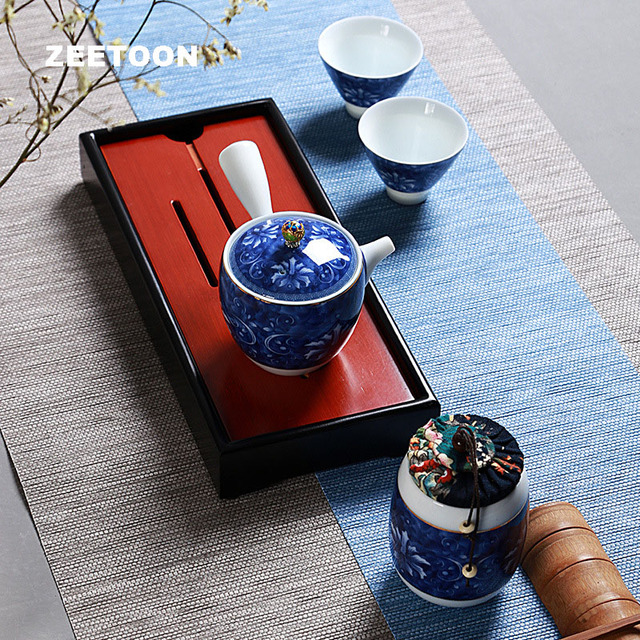8PCS Tea Set Chinese Travel Ceramic Portable Teacup Towel White Porcelain Teapot Tea Tray Kung Fu Tea Set Ceremony Teapot Bag