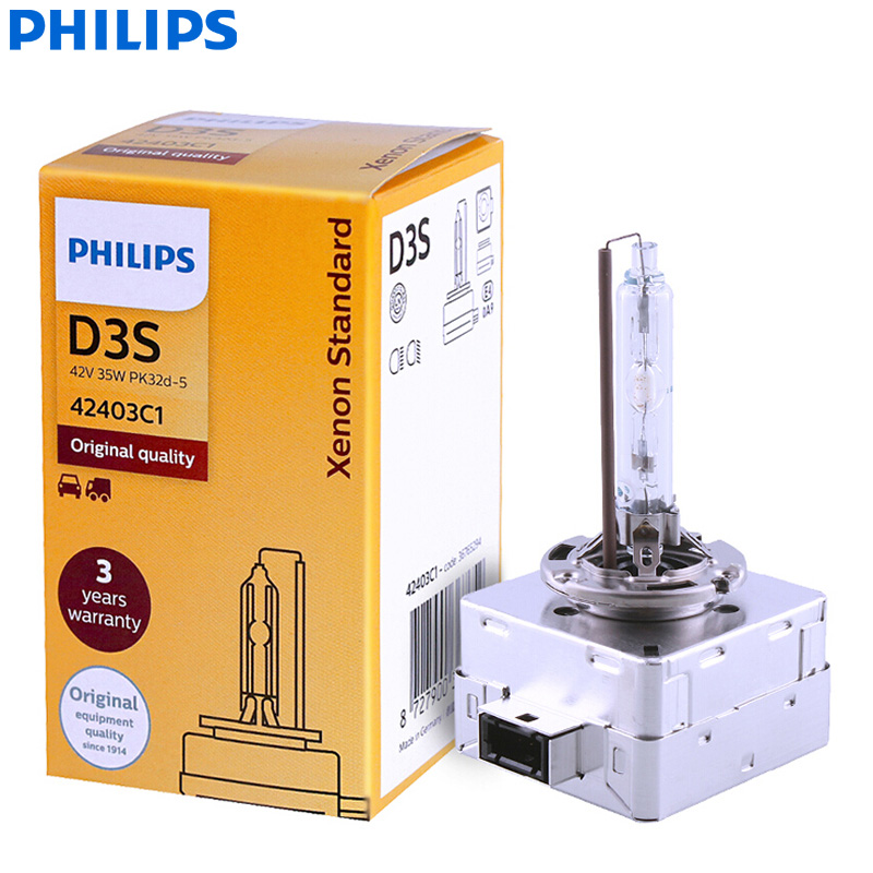Philips Xenon HID D3S Original Headlight Car-Bulb Beam Auto-Lamp-Hl 42403C1 Standard