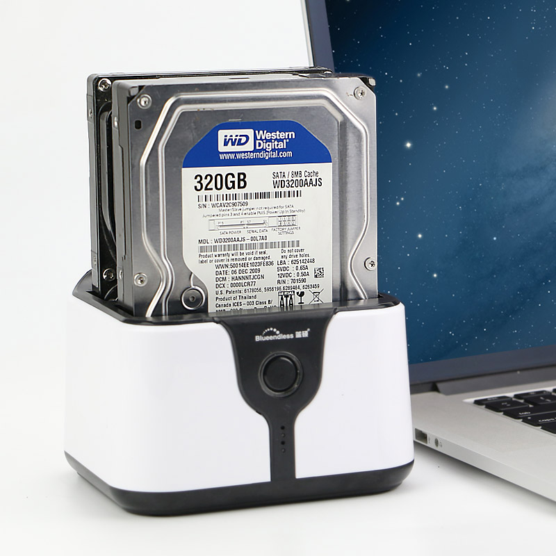 hdd klonstation 2 Bay til SATA ssd boks hd 3,5 '' 2,5 tommer hdd kabinet 4 tb pr bay USB 3.0 passer til hdd ssd station blueendless