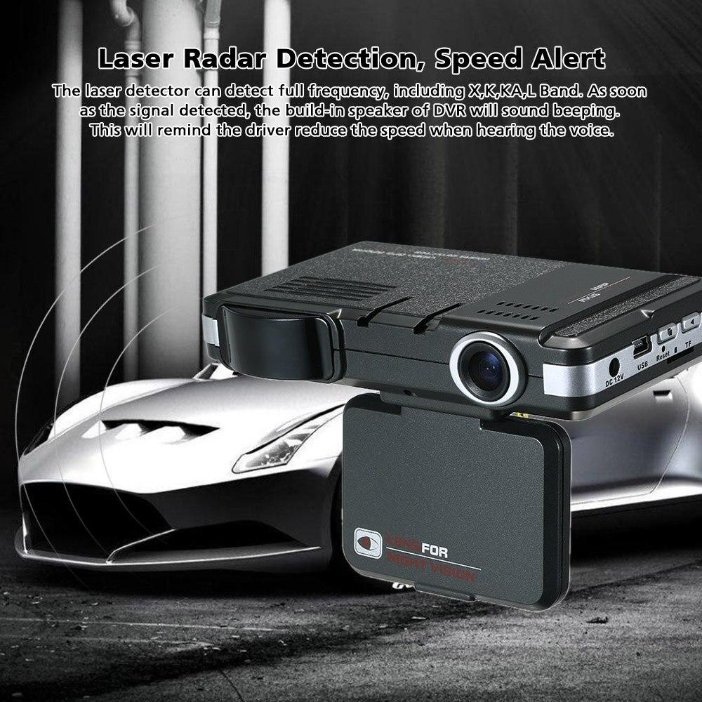 KKMOON New 2 in 1 Car Camera Radar Detector 720P Russian English Voice Laser Radar Night