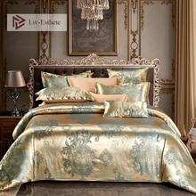 Liv-Esthete Euro Jacquard Bohemia Luxury Bedding Set Double Queen King Duvet Cover Flat Sheet Decorative Bed Linen For Wedding
