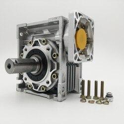 Скорость соотношение 20:1 NMRV050 червячный редуктор 14/19 мм Вход вал 90 градусов RV50 червячный редуктор коробки передач для NEMA42 серво/шаговый мотор
