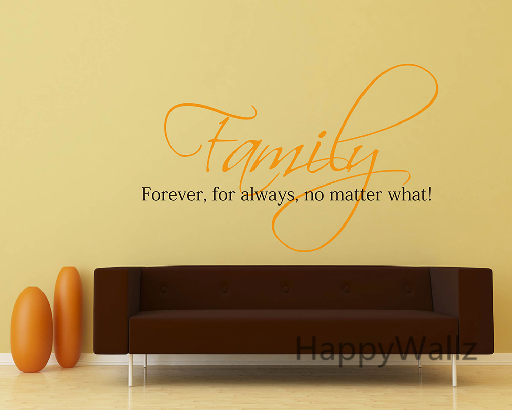 Family Forever For Always No Matter What Family Quote Wall ...