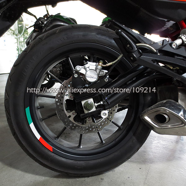 Aprilia Mv Agusta Benelli 4 Strips Italy Wheel Sticker Reflective