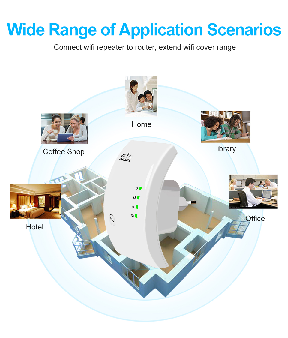 Image 2 - WiFi Repeater WiFi Extender 300Mbps WiFi Booster Wireless Wi Fi Amplifier Wi Fi Repeater Access Point Long Range Wi Fi Repeater-in Wireless Routers from Computer & Office