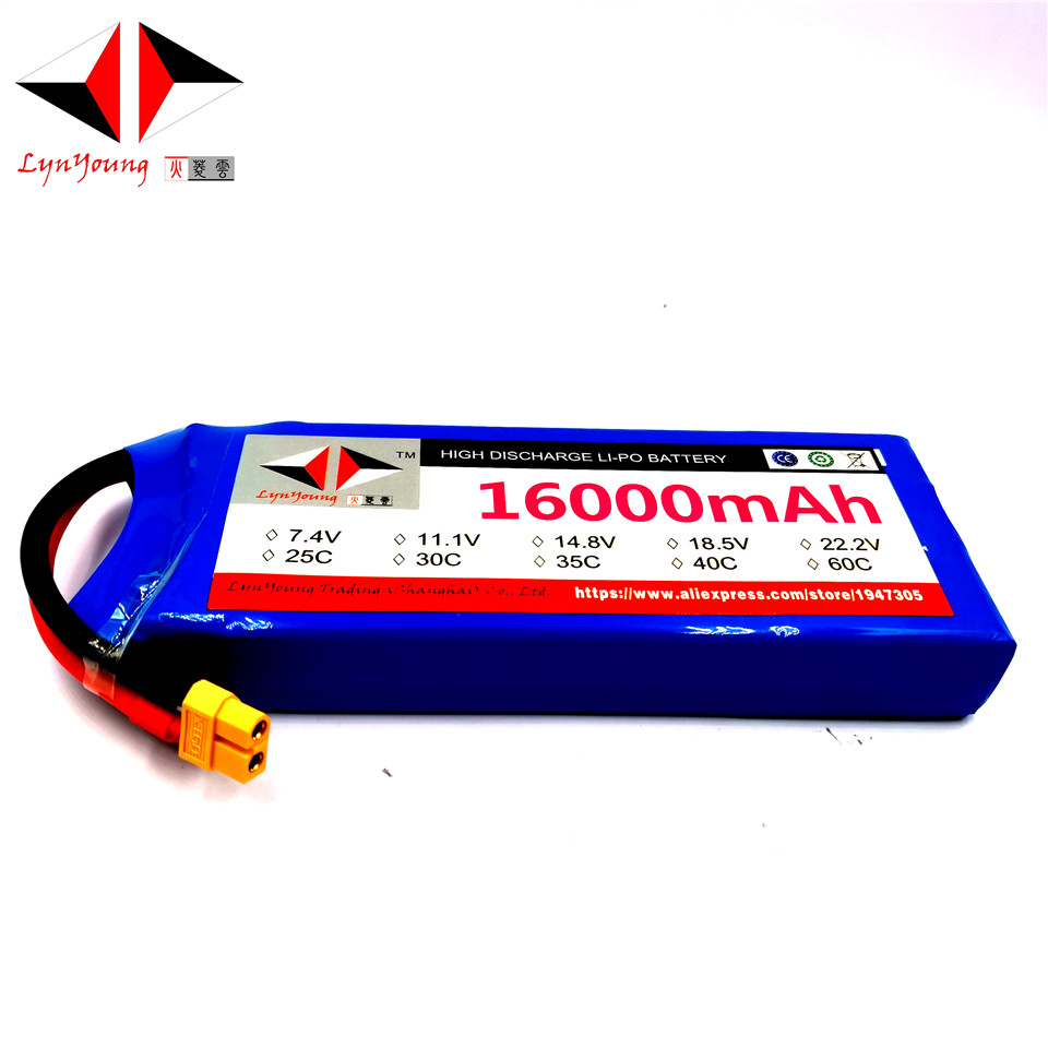 LYNYOUNG 16000mAh 7.4V 2S RC lipo battery 20C for airplane Helicopter QuadcopterLYNYOUNG 16000mAh 7.4V 2S RC lipo battery 20C for airplane Helicopter Quadcopter
