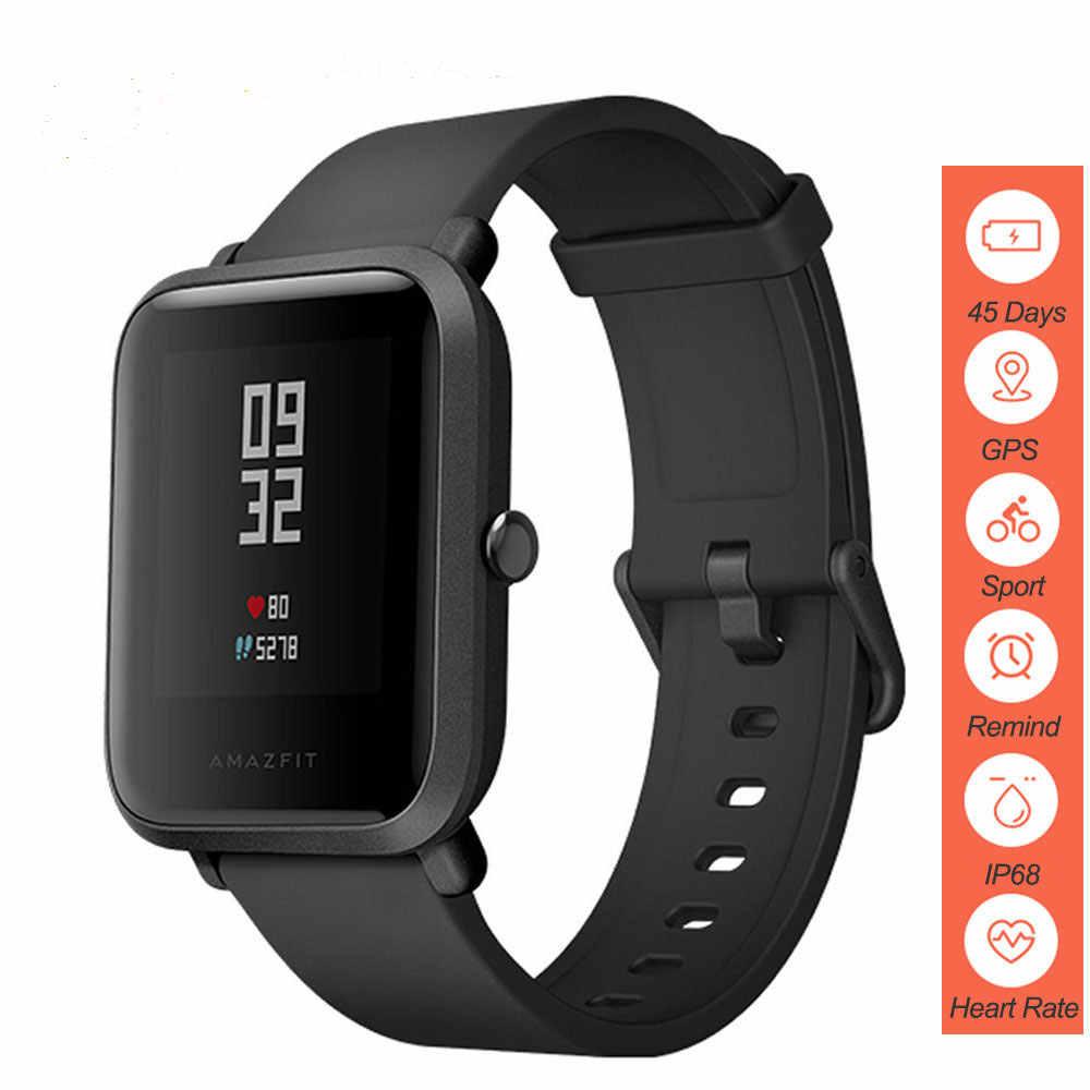 Xiao Mi Amazfit Bip Smart Watch Versi Bahasa Inggris Hua Mi GPS Smartwatch Mi Kecepatan Lite Edisi Pemuda Denyut Jantung IP68 45 Hari Baterai