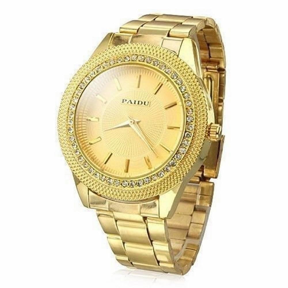 Mance-25 Brand Business Luxury Dress Mens Gold Watches Diamond Dial Gold Steel Analog Quartz Wrist Watch relogio masculino mance ladies brand designer watches