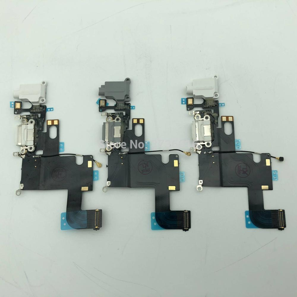 2pcs/lot For Phone 6 best quality USB Charging Port Dock Connector Flex Cable Parts Replacement for mobile phone repair