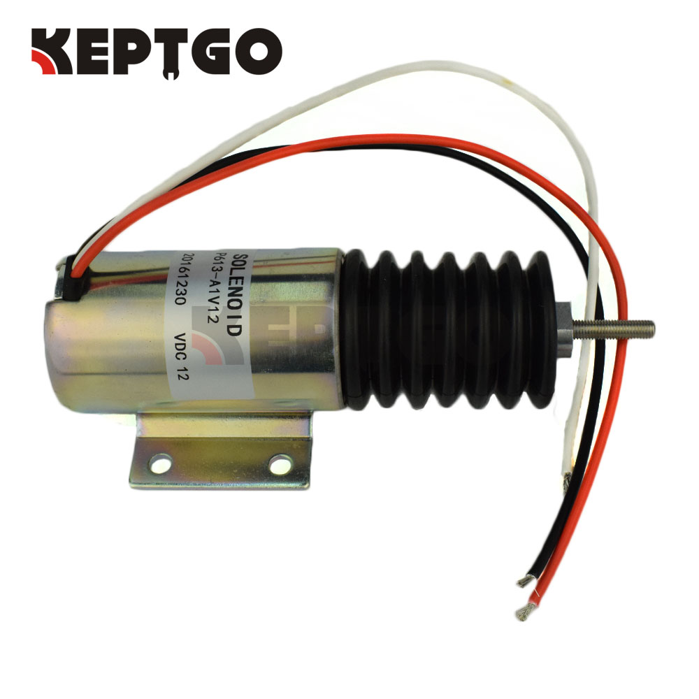 12v P613-A1V12 Stop Solenoid For Engine Throttle Continuous Duty 2001ES-12E2U1 pull solenoid p613 a1v12 12 volt for engine continuous duty free fast shipping