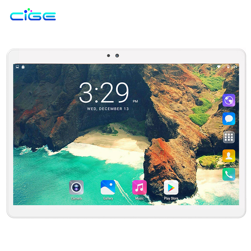 CIGE Tablet PC 10.1 inch 3G Phone Tablets PCs Ocat Core 4GB RAM 32GB/64GB ROM Dual SIM Card Android 7.0 Smart tablets PCs 10-in Tablets from Computer & Office    1