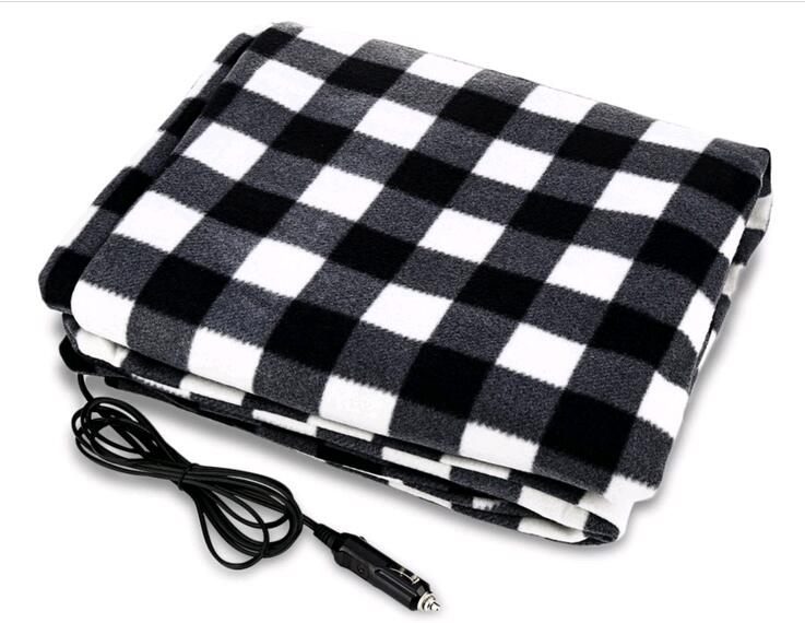 Electric Heaters for car with seat heater <font><b>Blanket</b></font> Built in thermostat security warm winter with car plug 100% Polar fleece