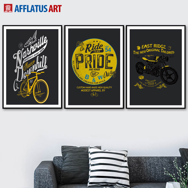 Motorcycle Bike Quotes Wall Art Canvas Painting Nordic Posters And Prints Pictures For Living Room