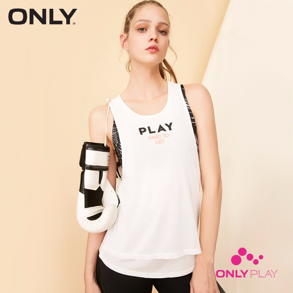 ONLY PLAY Letter Print Backless Singlet | 118103506