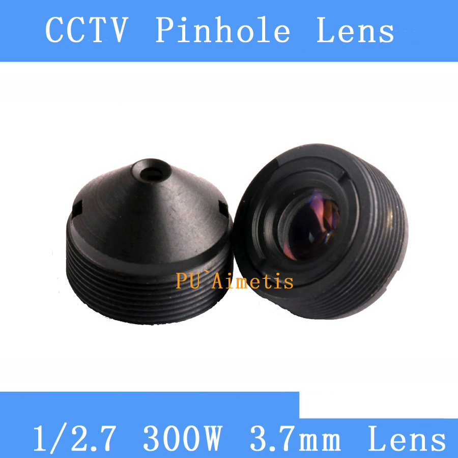 PU`Aimetis surveillance infrared camera HD 3MP pinhole lens 1/2.7 3.7mm M12 thread CCTV lens pu aimetis cctv lenses 3mp 1 2 7 hd 2 8mm surveillance camera 120 degrees wide angle infrared m12 lens thread