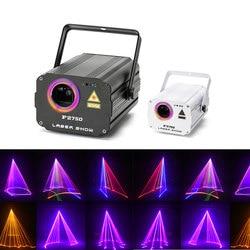 3D лазерный свет RGB цветные DMX 512 сканер проектор Вечеринка Рождество DJ Дискотека шоу огни клуб музыкальное оборудование луч движущийся луч с...