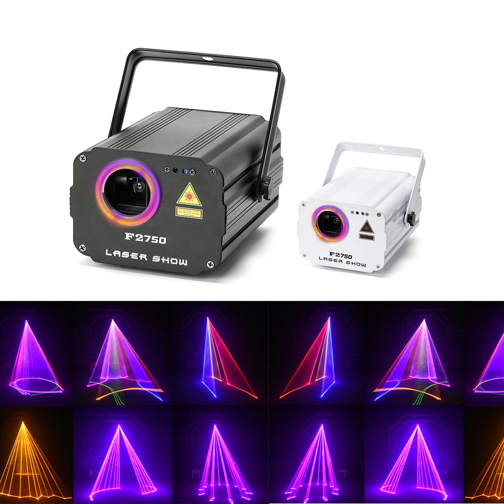 3D laser light RGB colorful DMX 512 Scanner Projector Party Xmas DJ Disco Show Lights club music equipment Beam Moving Ray Stage-in Stage Lighting Effect from Lights & Lighting on