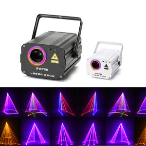 3D laser light RGB colorful DMX 512 Scanner Projector Party Xmas DJ Disco Show Lights club music equipment Beam Moving Ray Stage(China)